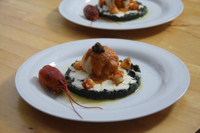 Seezunge mit Flusskrebsen und Sauce Nantua (11)
