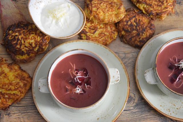 Rote-Bete-Suppe mit Kren (6)