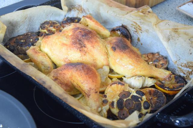 Gegrilltes Hähnchen mit Romesco-Sauce und Spargel (5)