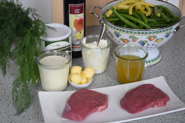 Steak mit Fisolensalat (1)