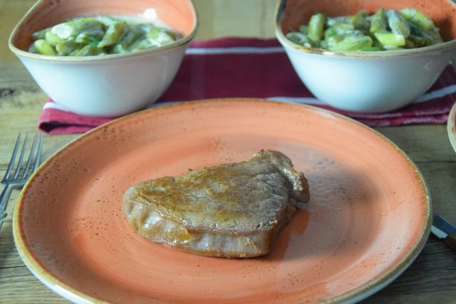 Steak mit Fisolensalat (4)