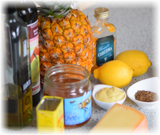Bergkäse mit Ananas-Gelee und Kreuzkümmel (1)