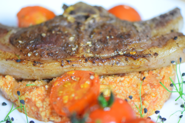 Lammkoteletts mit Sumach und Tomaten-Couscous (4)