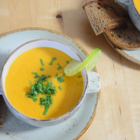 Limetten-Karottensuppe