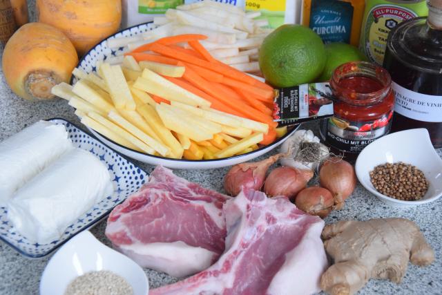 Scharfes Röstgemüse mit Ziegenfrischkäse und Koriander-Churros (1)
