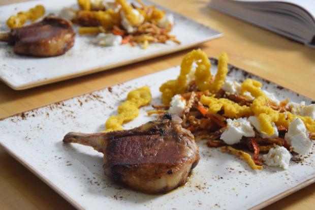 Scharfes Röstgemüse mit Ziegenfrischkäse und Koriander-Churros (2)