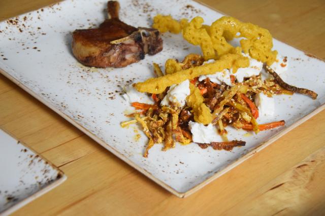 Scharfes Röstgemüse mit Ziegenfrischkäse und Koriander-Churros (4)