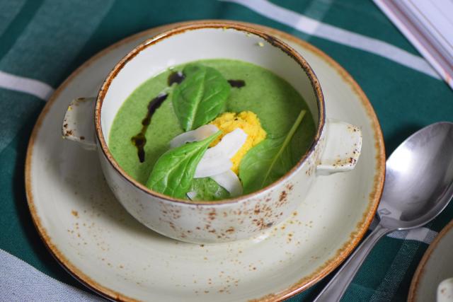 Spinat-Kokossuppe mit Paradieskorn-Chutney (5)