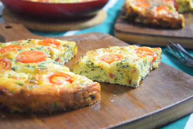 Frittata mit Speck und Tomaten (4)