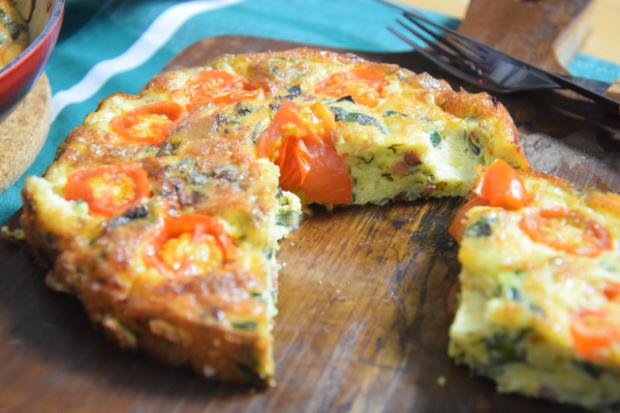 Frittata mit Speck und Tomaten (5)