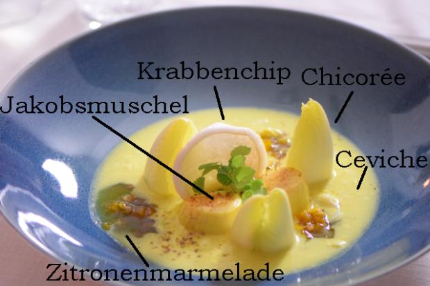 Jakobsmuschel Tataki & Ceviche (6) beschriftet