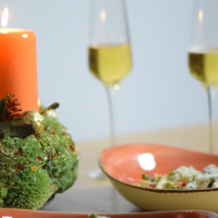 Ricotta-Ravioli mit Erbsen und Speck