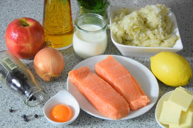 Sauerkraut mit Lachs (1)