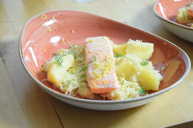 Sauerkraut mit Lachs (2)