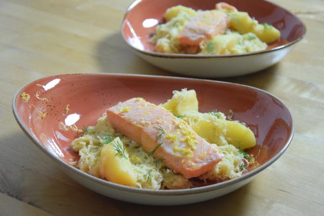 Sauerkraut mit Lachs (3)