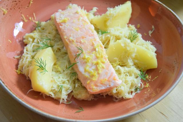 Sauerkraut mit Lachs (4)