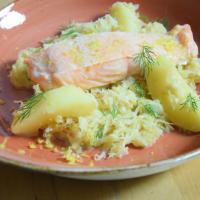 Sauerkraut mit Lachs