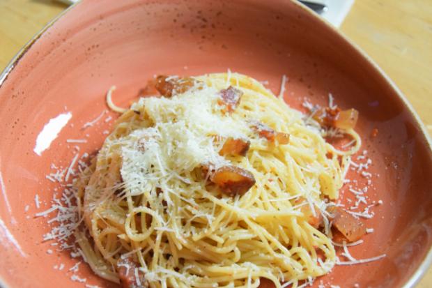 Spaghetti mit Guanciale (7)