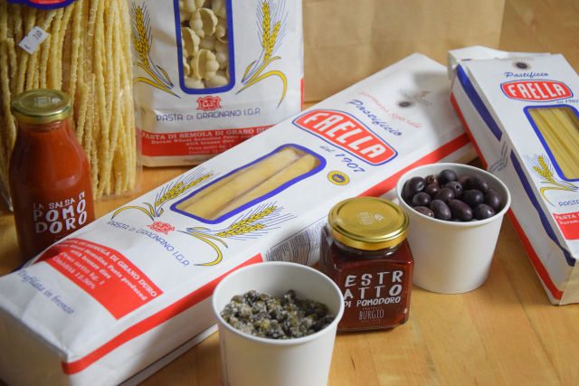 Spaghettini mit Oliven und Kapern (1)