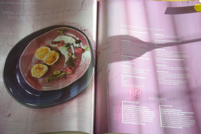 Vanille-Ziegenkäse mit eingelegten Trauben und Kürbiskernpesto (10)