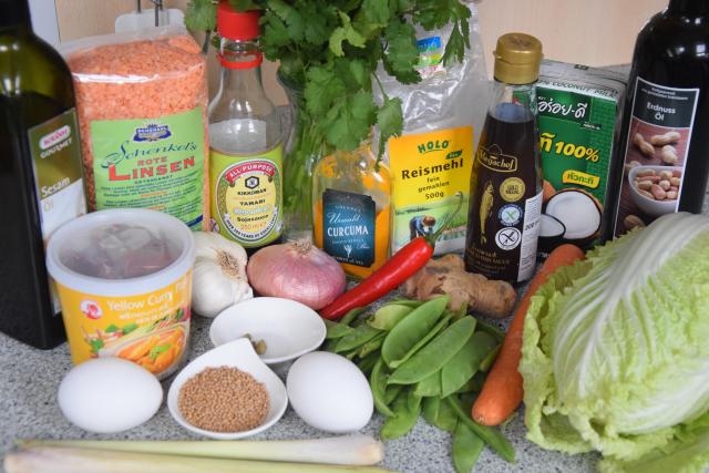 Linsen-Curry mit Gemüse in Kokospfannkuchen (1)