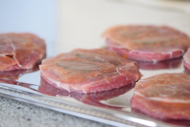 Saltimbocca vom Schwein (3)