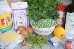 Zutaten Petersilien-Pfeffer-Brioche mit Erbsen-Hummusmit