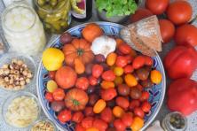 Zutaten Tomatensalat mit Romescosauce
