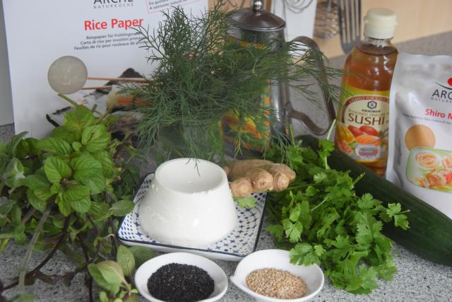 Reispapierrollen mit Minze und Ricotta (1)