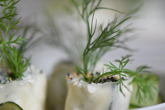 Reispapierrollen mit Minze und Ricotta (6)