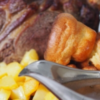 Roastbeef, Yorkshire Pudding, Potatoes