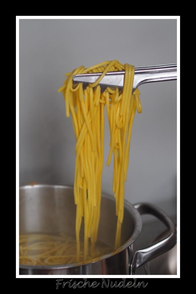 Tagliatelle mit Muscheln in Tomatensauce (4)