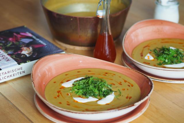 Rote-Linsen-Suppe mit Chiliöl (4)
