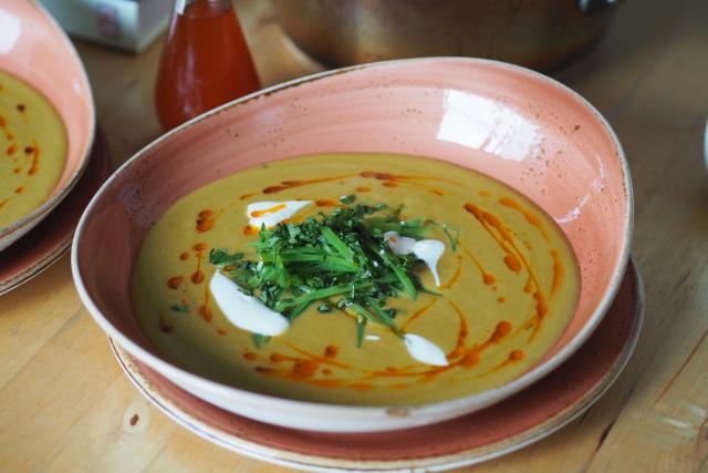 Rote-Linsen-Suppe mit Chiliöl (6)