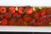 Konfierte Tomaten nach dem Ofengang.