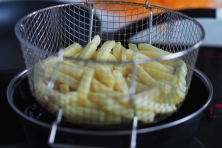 Pommes frites nach dem ersten Gang.