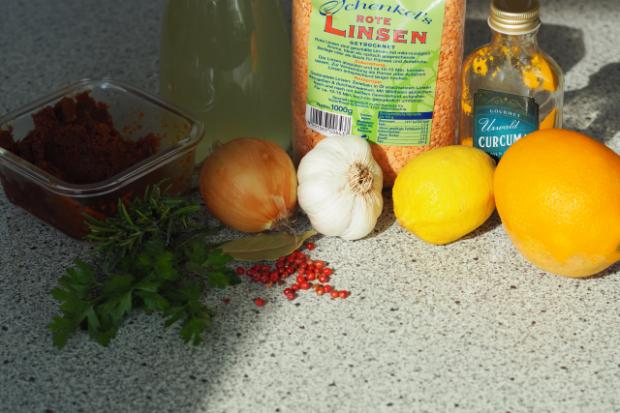 Linsensuppe Quinoasalat - Menü (1)
