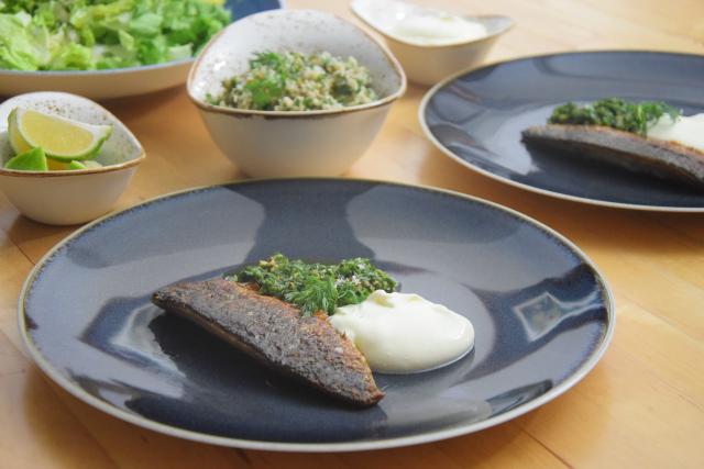 Makrele mit Ingwercreme und Pistazien-Kardamomsalsa (5)