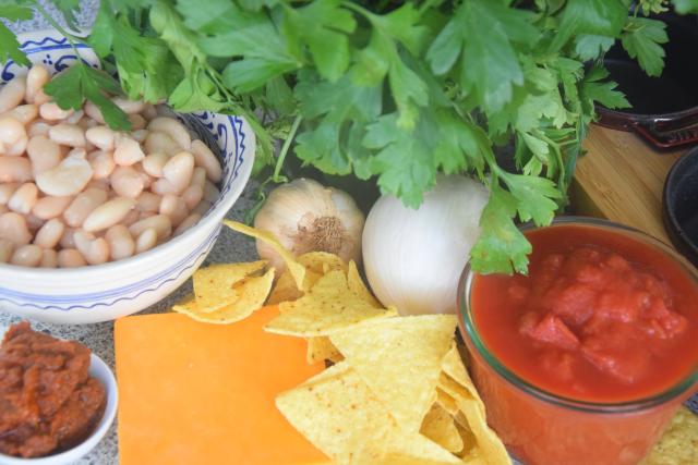 Überbackene Bohnen mit Tortillas (1)