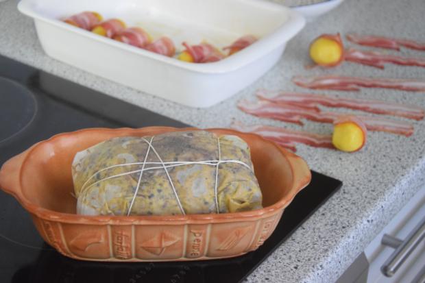 Hirschbraten mit Bratäpfel und Speckkartoffel (2)