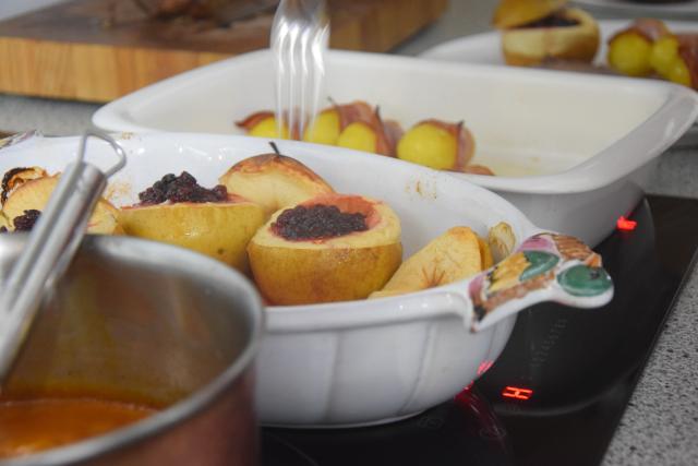 Hirschbraten mit Bratäpfel und Speckkartoffel (4)
