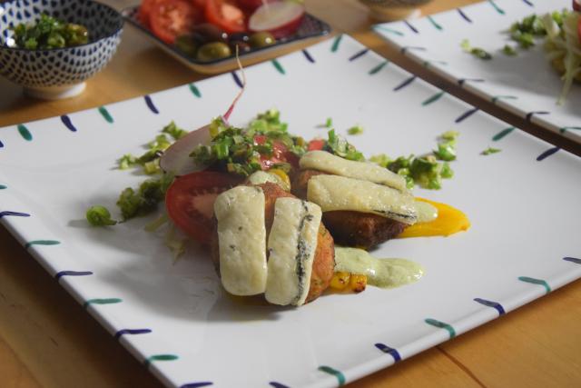 Linsenlaibchen mit Gorgonzola überbacken (5)