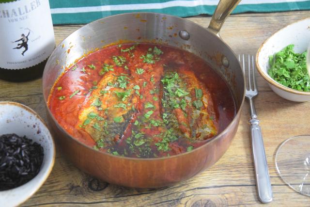 Makrele in Chraimeh-Sauce (2)