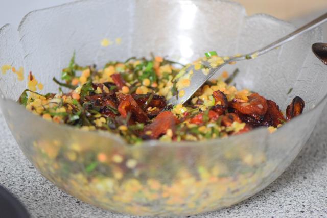 Linsensalat mit Shiitake und Mangold (2)