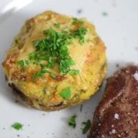Gefüllte Champignons mit Steak