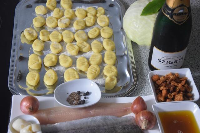 Champagnerkraut, Gnocchi und Forelle (1)