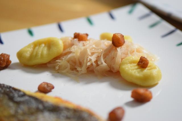Champagnerkraut, Gnocchi und Forelle (3)