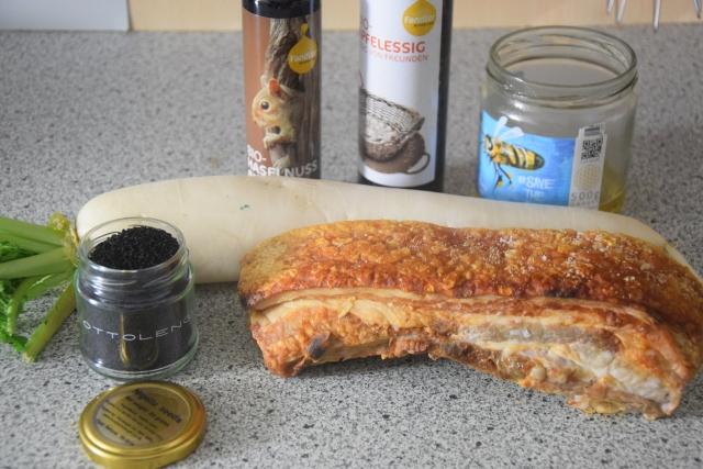 schweinsbratenwürfel mit bierrettich (1)