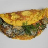 Brokkoli-Schinken-Omelett mit Pilzen