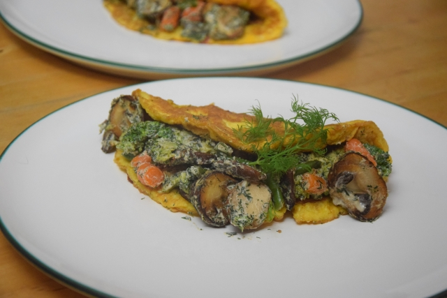 Brokkoli-Schinken-Omelett mit Pilzen (3)